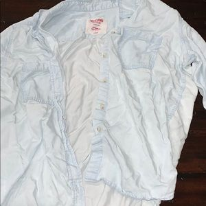 Like new jean button up shirt